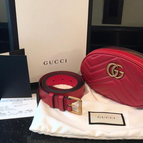 b2bdeeeac25 Gucci Marmont Matelasse leather belt bag (105)
